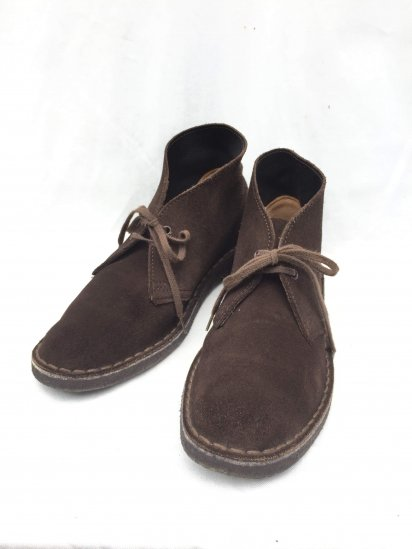 "90's Vintage Clarks Made in England ""Desert Boots"" Brown / 2"