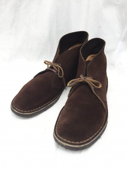 "90's Vintage Clarks Made in England ""Desert Boots"" Brown / 3"