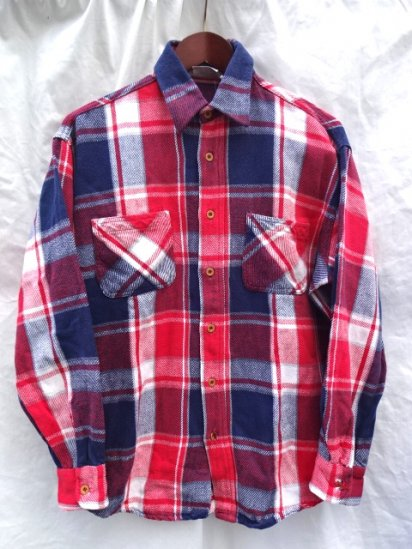90's Vintage BIG MAG Cotton Heavy Flannel Shirts/6