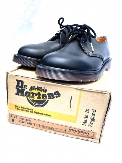 90's Dead Stock Dr Martens 3 Eyelet Gibson Made in England / 1