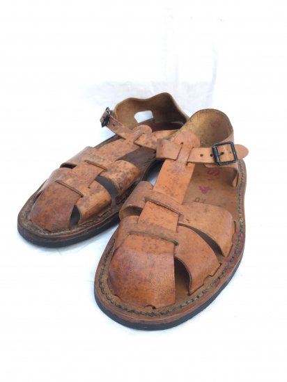 50's Vintage Mint Condition French Army Leather Sandal Type � / 1
