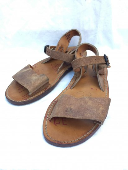 50's Vintage Dead Stock French Army Leather Sandal Type � / 2
