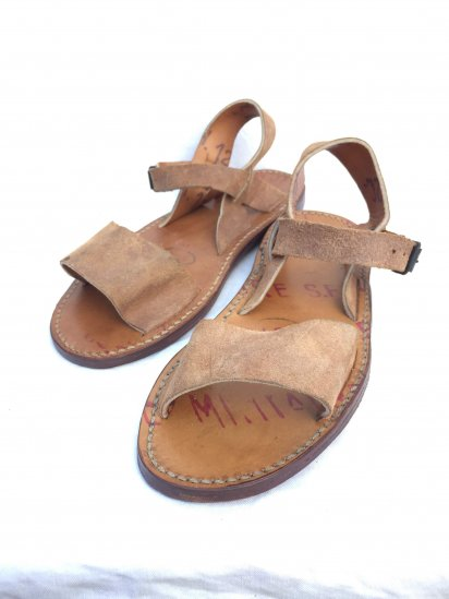 50's Vintage Dead Stock French Army Leather Sandal Type � / 3