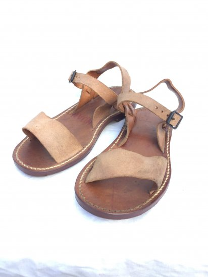 50's Vintage Dead Stock French Army Leather Sandal Type � / 4