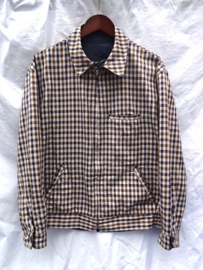 90's〜 Vintage Aquascutum Riversuble Jacket MADE IN ENGLAND Navy × Check