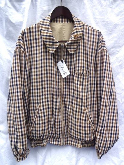 80's〜 Vintage Aquascutum Riversuble Jacket MADE IN ENGLAND Beige × Check