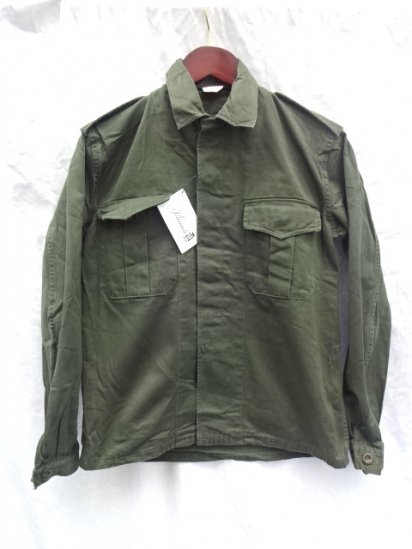 80's Vintage Dead Stock Belgium Army Field Shirts Jacket Olive