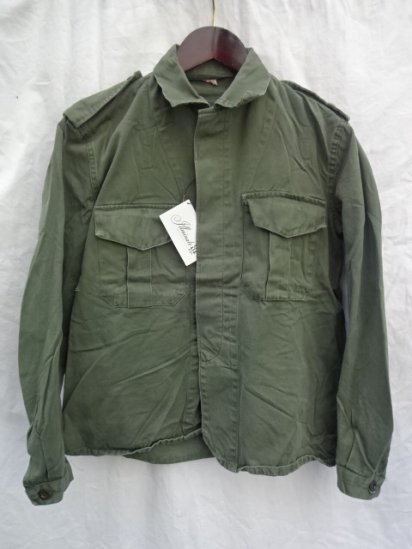 80's Vintage Belgium Army Field Shirts Jacket Olive 39