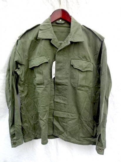 80's Vintage Belgium Army Field Shirts Jacket Olive 43