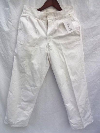 60's Vintage Royal Navy White Trousers White