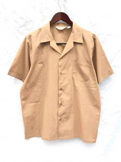 70's Vintage Dead Stock LEGEND by Luvisca Leisure Shirts MADE IN BRITAIN Brown / 13
