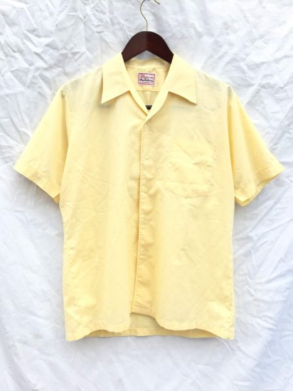 60's ~ 70's Vintage Dead Stock Shan-su Leisure Shirts Made in Britain Yellow / 14