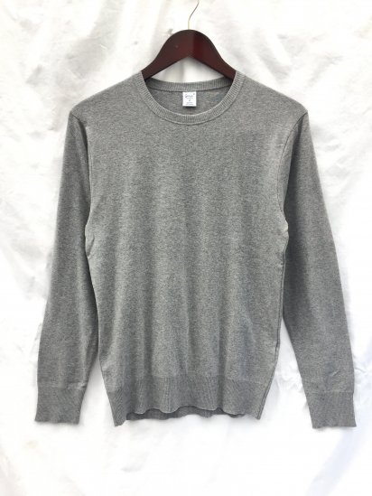 Gicipi Cotton Knit Made in Italy Gray