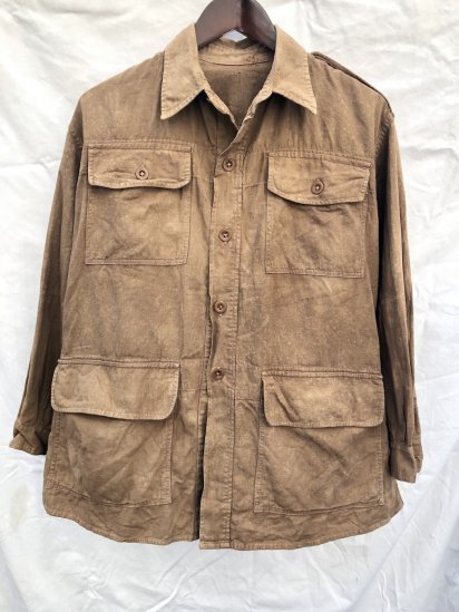 40's Vintage British Army Bush Jacket Brown / 2