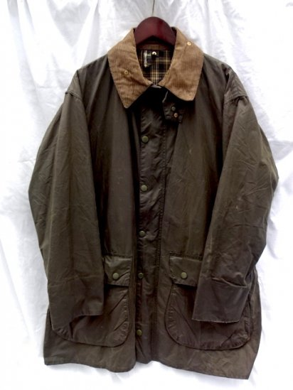 1 Crest Vintage Barbour Border MADE IN ENGLAND Good Condition Olive / 1