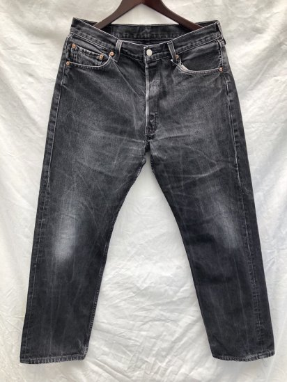 90's Levi's 501 Made in U.S.A Black / 6
