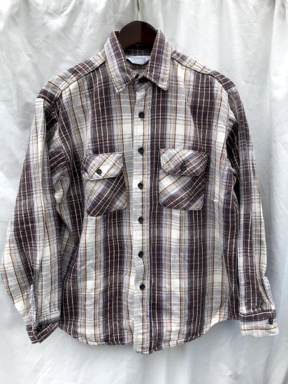 70's Vintage  Five Brother Cotton Heavy Flannel Shirts/6