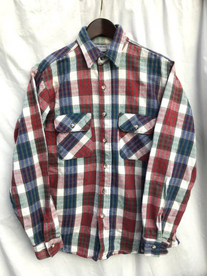 70's〜80's Vintage  Five Brother Cotton Heavy Flannel Shirts/7