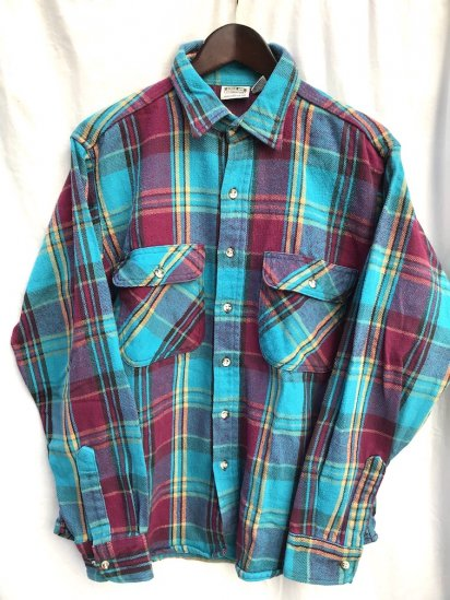 90's〜 Old  Five Brother Cotton Heavy Flannel Shirts/9