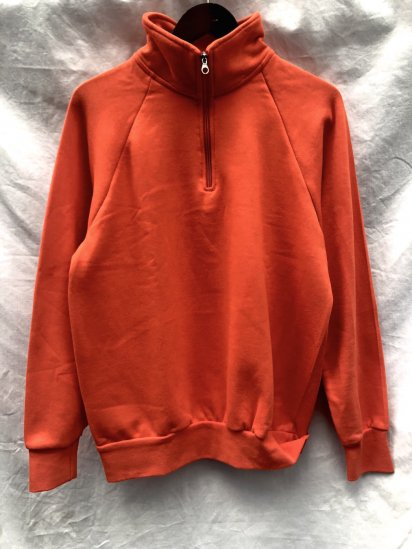 VESTI Half Zip Sweat Shirt Made in Italy Orange