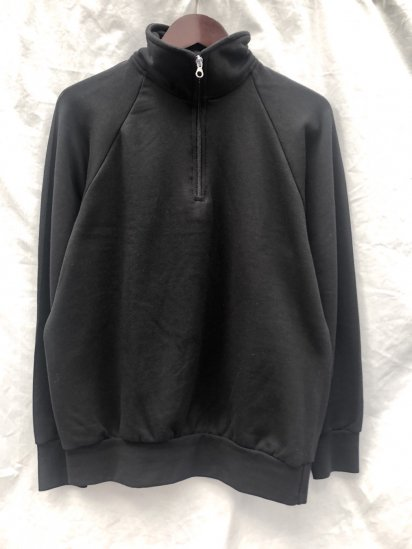 VESTI Half Zip Sweat Shirt Made in Italy Black
