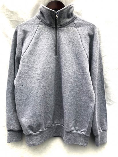 VESTI Half Zip Sweat Shirt Made in Italy Grey