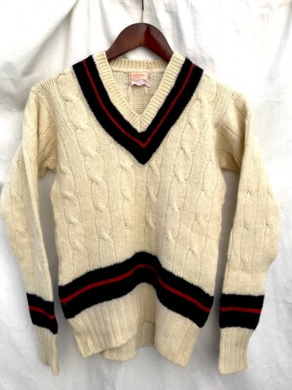 60's Vintage Cricket Sweater MADE IN ENGLAND Natural / 1