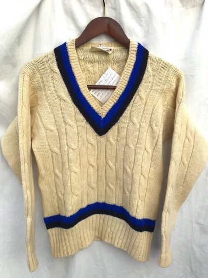 60's Vintage Cricket Sweater MADE IN ENGLAND Natural / 3