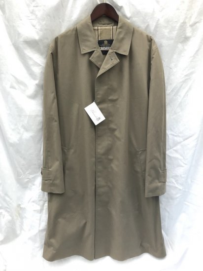 80's Vintage GRENFELL Balmacaan Coat Made in ENGLAND Mint Condition Khaki / 2