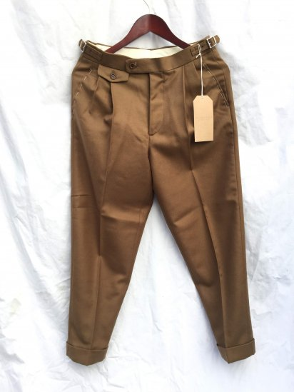Richfield Made in Japan Merino Wool Surge 2 Tuck Tapered Trousers