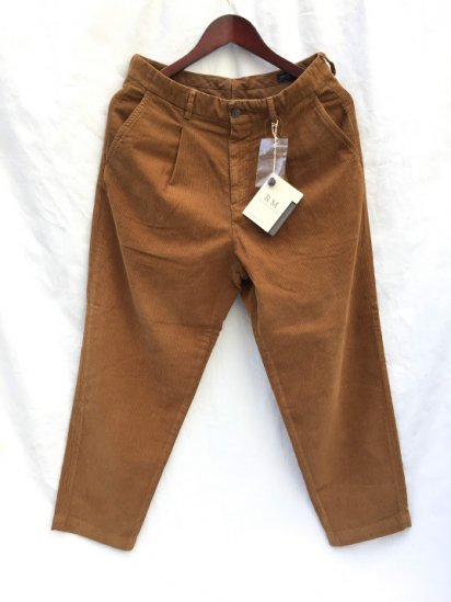 RICCARDO METHA Narrow Corduroy 1Tac Carrott Trousers Made in Italy Cammello (Camel)
