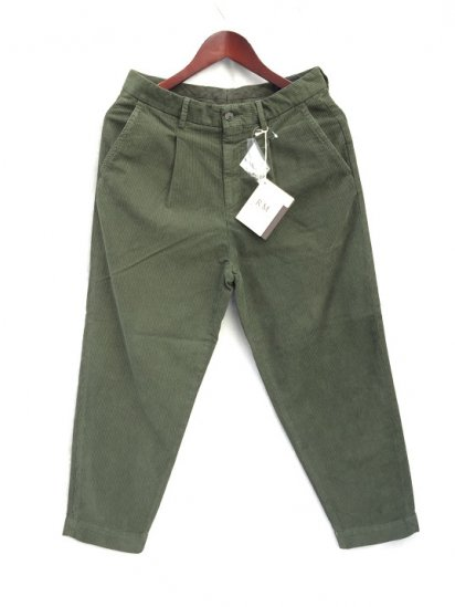 RICCARDO METHA Narrow Corduroy 1Tac Carrott Trousers Made in Italy V.Militare (Olive)