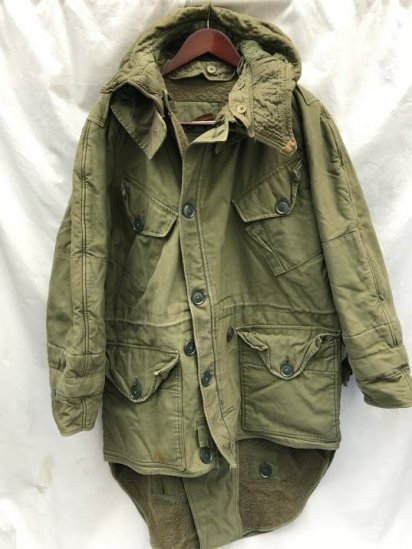 50's ~ 60's Vintage British Army Middle Parka Olive