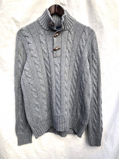 Old Ralph Lauren Toggle Neck Cotton Sweater Grey / 6