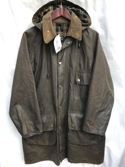 1 Crest Vintage Barbour SOLWAY ZIPPER MADE IN ENGLAND Brown