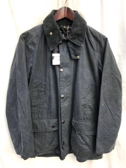 3 Crest Vintage Barbour Bedale Made in England Navy / 62
