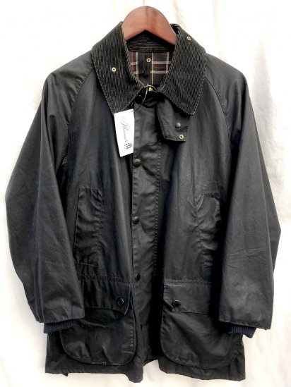 3 Crest Vintage Barbour Bedale Made in England Navy / 63