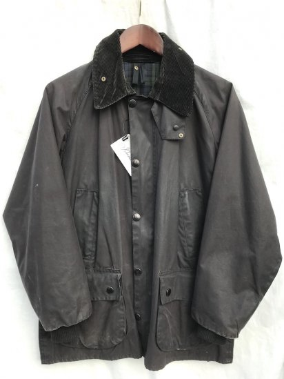 3 Crest Vintage Barbour Bedale Made in England Good Condition Black / 64