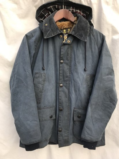 3 Crest Vintage Barbour Bedale Made in England Full-Set Navy / 65