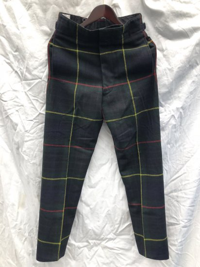 60's ~ 70's Vintage Dead Stock Royal Regiment of Scotland Wool Parade Trousers Hunting Stewart / 1