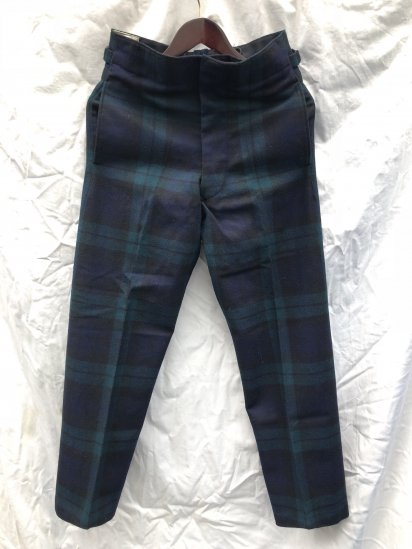 60's ~ 70's Vintage Dead Stock Royal Regiment of Scotland Wool Parade Trousers Black Watch / 2
