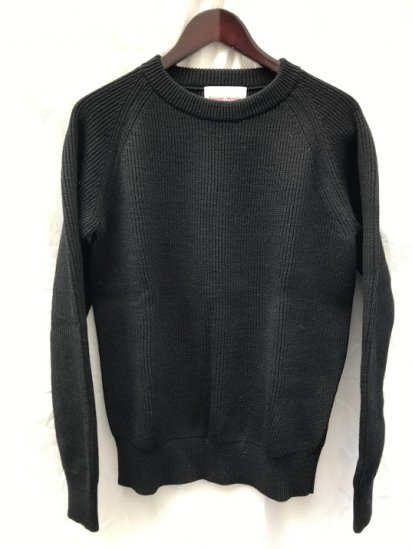 Vincent et Mireille 8GG AZE Knit Crew Neck Sweater Black