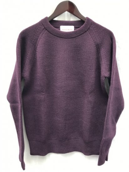 Vincent et Mireille 8GG AZE Knit Crew Neck Sweater Purple