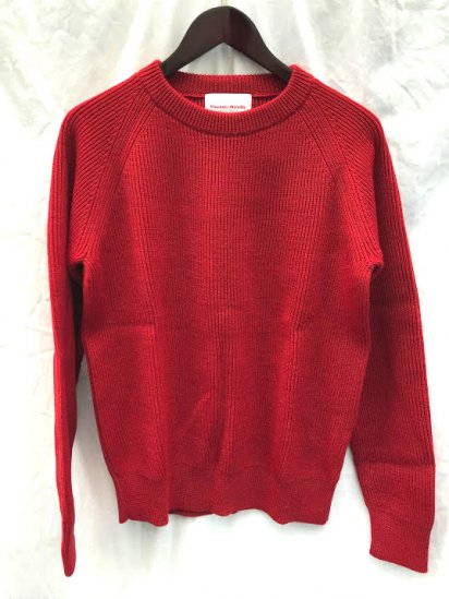 Vincent et Mireille 8GG AZE Knit Crew Neck Sweater Red