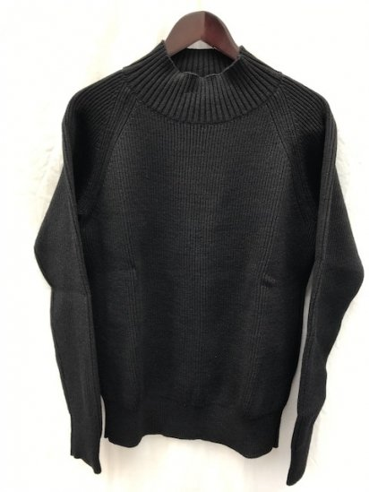 Vincent et Mireille 8GG AZE Knit Mock Neck Sweater Black