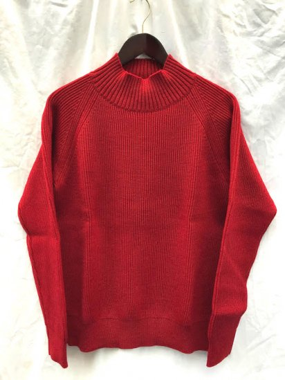 Vincent et Mireille 8GG AZE Knit Mock Neck Sweater Red