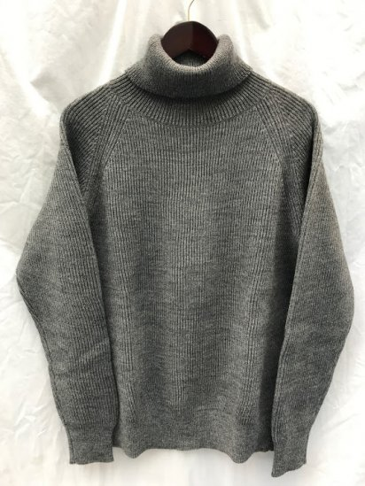 Vincent et Mireille 8GG AZE Knit Turtle Neck Sweater Top Grey