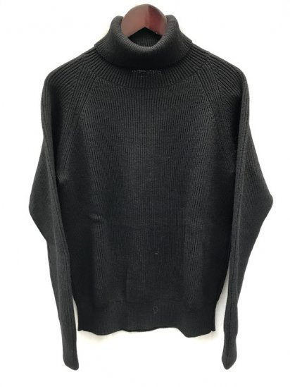 Vincent et Mireille 8GG AZE Knit Turtle Neck Sweater Black