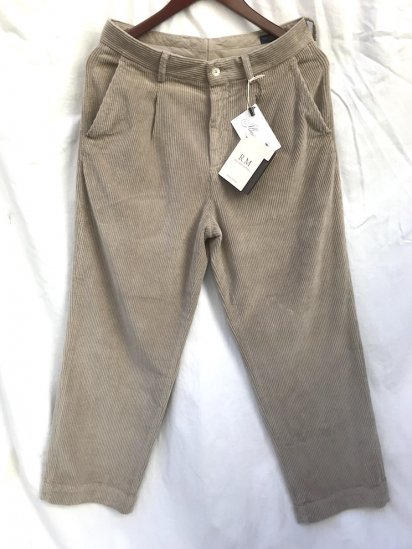 RICCARDO METHA Corduroy 1Tac Trousers Made in Italy Beige