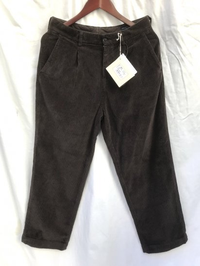 RICCARDO METHA Corduroy 1Tac Trousers Made in Italy Dark Brown